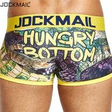 JOCKMAIL, сексуальное мужское нижнее белье, боксеры с игривым принтом, гей нижнее белье, calzoncillos hombre, мужские трусы, Cueca, боксеры, мужские трусы, хи...