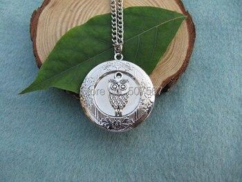 Wholesale cute owl Locket, Silver Locket,Gift for Mom, Wife, Sister, Daughter, Graduation, Unique Locket Gift Idea locket