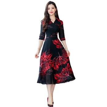 5b4052911 2019 Primavera Verano nuevo slim de cintura alta elegante de gasa vestido  de moda de las