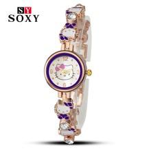Hello Kitty Watch ladies women fashion casual wristwatch quartz relogio feminino female watches cartoon luxury hot sale clock