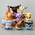 Whole sale 8 pçs/set anime 8 estilo pokemon personagem plush soft toy stuffed animal collectible boneca