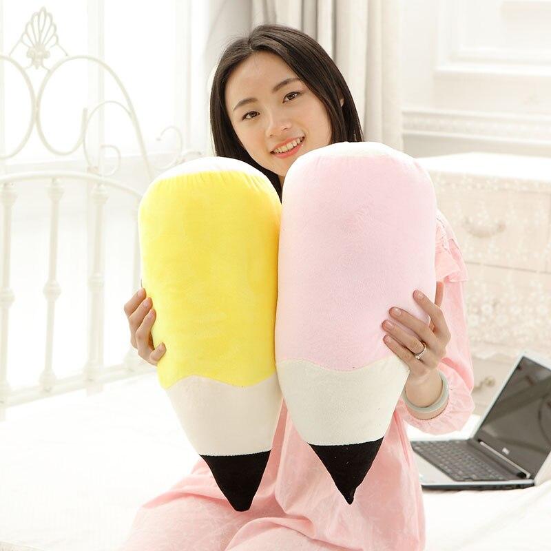 Hiatema Kwaii Creative Pencil Plush Pillow Staffed Nap Cushion Activilty Gift Toys Kids Toy Birthday Gift 6 Colors