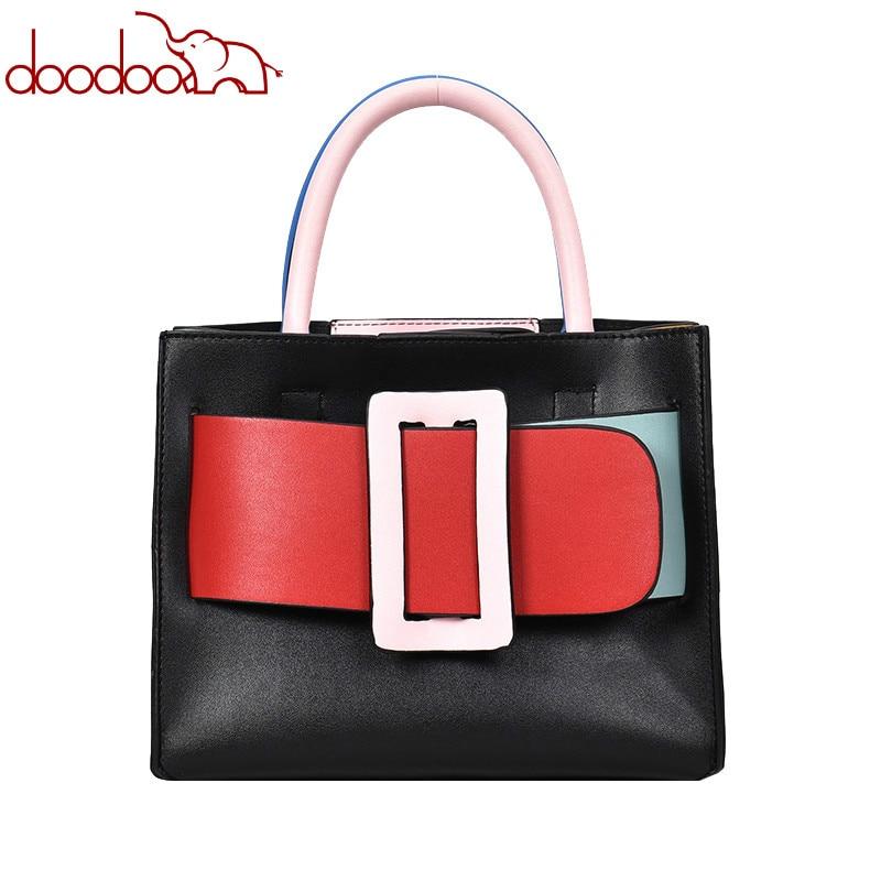 British Fashion Women's Designer Handbag 2019 New High quality PU Leather Women bag Lattice Chain Tote Shoulder Crossbody Bags