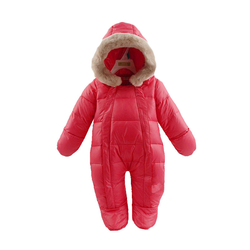 Sıcak satış 2015 yenidoğan kış çocuk termal için tulum tulumlar ve ceketler ördek aşağı giyim, yenidoğan kız erkek giysileri
