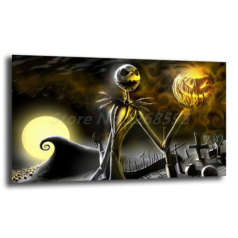 Anime Nightmare Before Christmas Painting Living Room Wall Art Print On Canvas Decorative Picture Gifts Home Decor