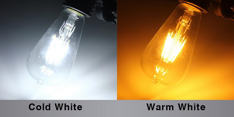лампы светодиодные свечи Е14 с35 винтаж свет лампы накаливания E27 светодиодные глобусы лампы Эдисона 220 в А60 стекло 2 вт 4 вт 6 вт 8 вт заменить лампы накаливания