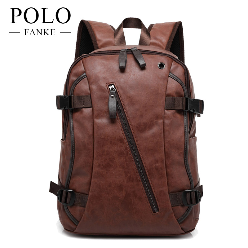 dcb2240157 Detail Feedback Questions about FANKE POLOKorean Style 2017 Male Functional Bags  Fashion Men Backpack PU Leather Backpack Big Capacity Men Bags FB170702 on  ...