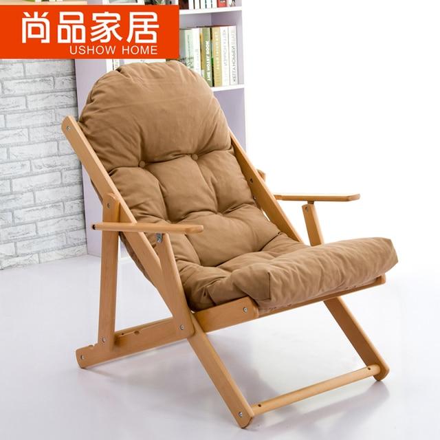 Premier de madera mecedora silla plegable silla del ocio