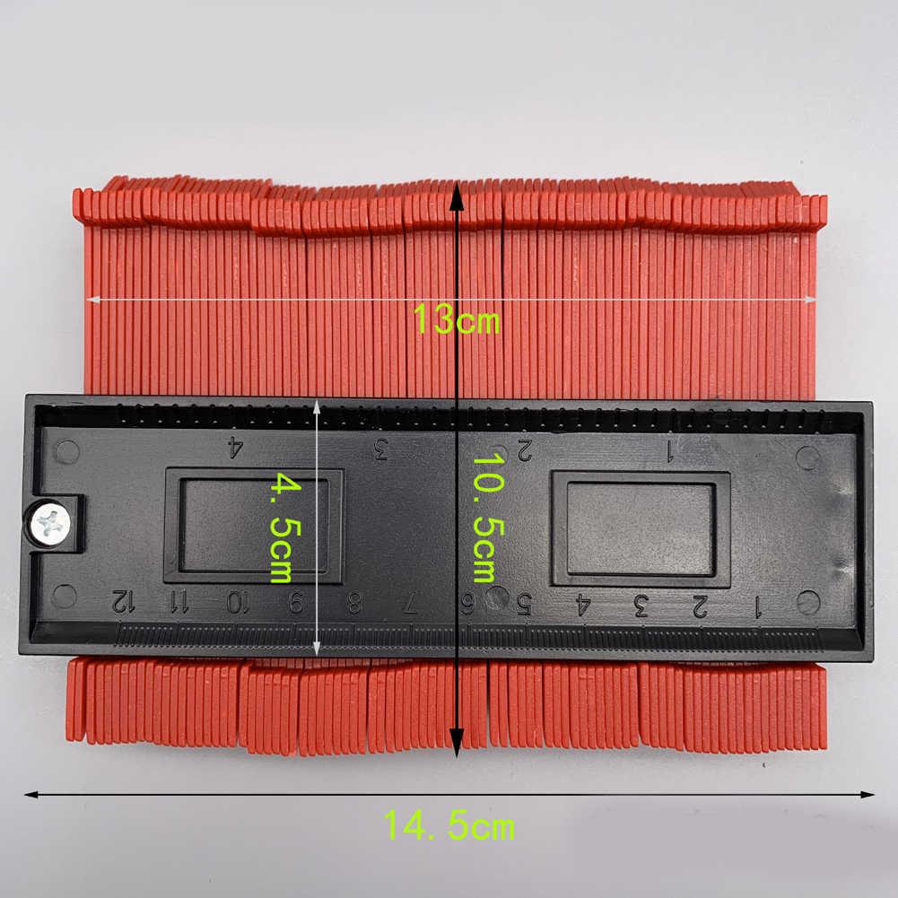 Calibre de plástico perfil contorno copiar calibre duplicador padrão 5 largura madeira marcação ferramenta tiling laminado telhas ferramenta geral 4 cor