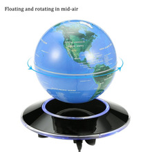 6 Inch Magnetic Levitation Floating Globe Rotating World Map LED Light Globe Children Educational Toys Home Decor for Gift