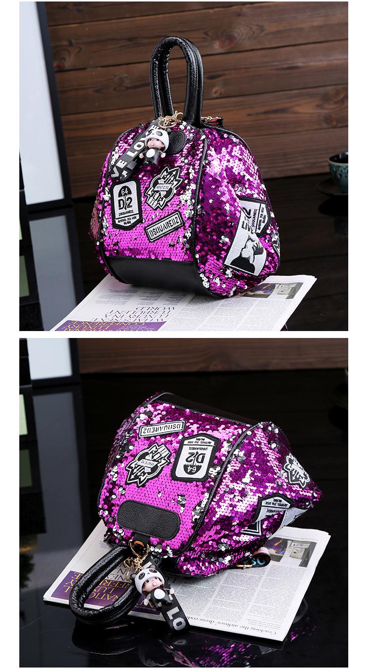 backpack women Fashion Women Bling Shiny Sequins Sparkling Shoulder Bags Larger Capacity Drawstring Bag backpack 88