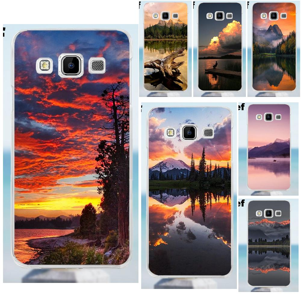 Suef For Galaxy Alpha Core Prime Note 2 3 4 5 S3 S4 S5 S6 S7 S8 mini edge Plus Soft TPU Case Mountain Lake Sunset Landscape Buy image