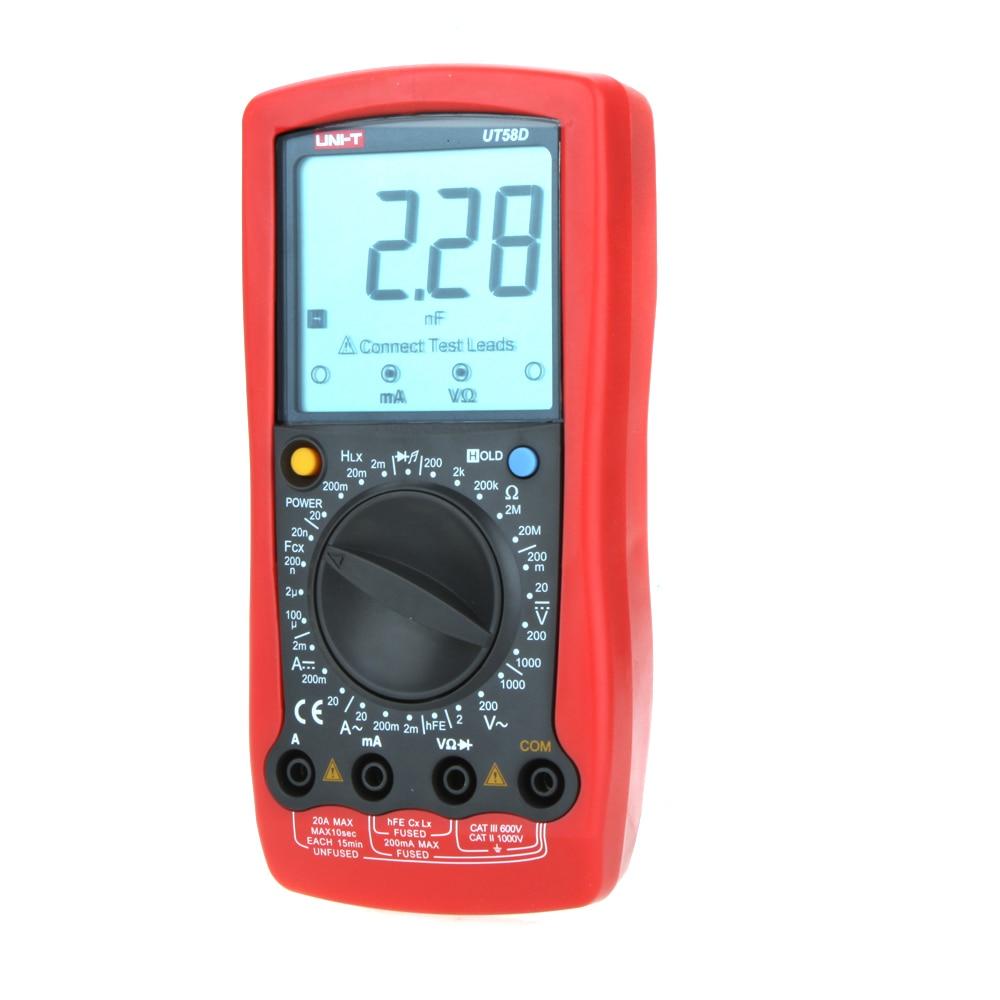 UNI-T UT58D w/ Inductance Test LCR Meter Multimetro Modern Manual Range Digital Multimeters Ammeter Multitester  цены