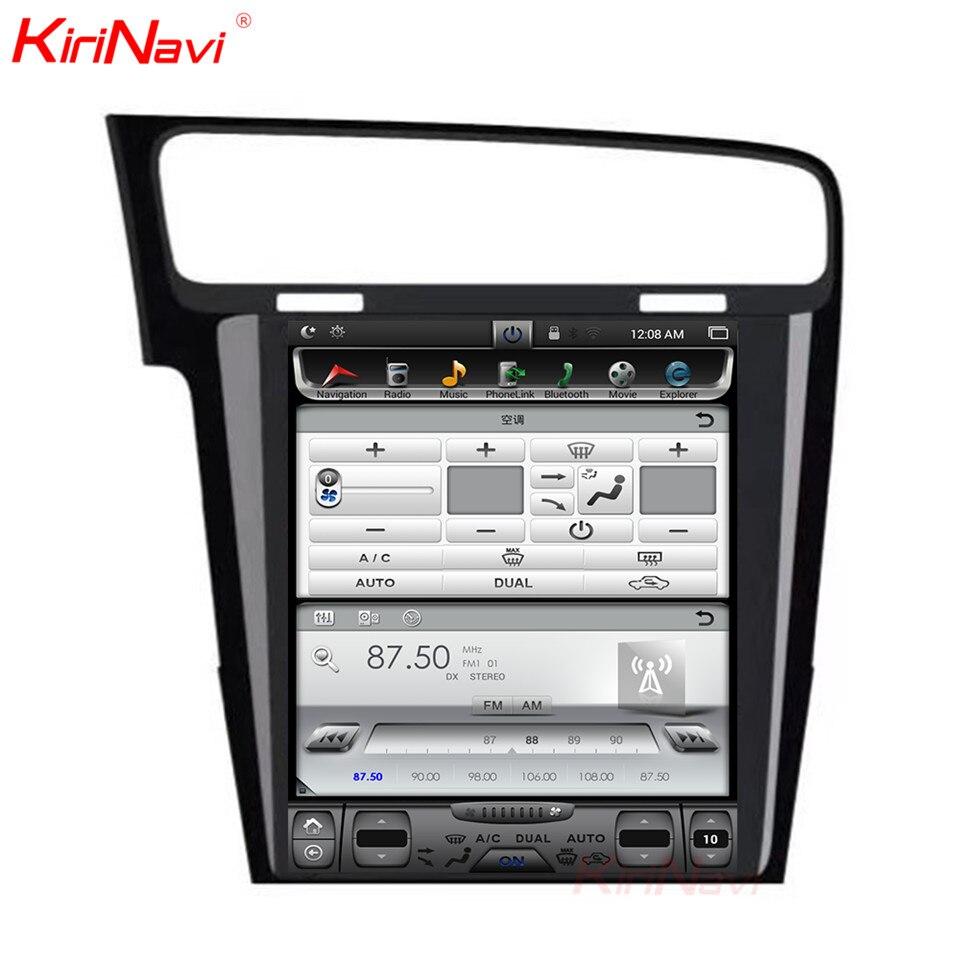 KiriNavi écran Vertical Tesla Style Android 7.1 10.4 lecteur DVD multimédia de voiture pour VW Golf 7 Radio Navigation 2013 2014 2015 + - 4