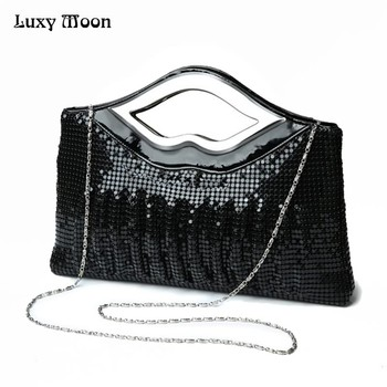 Free Shipping 2018 New Luxury Paillette  EveningBags High Quality Handmade  Evening Cluth Bags in Sequin Beading Quilt Designer