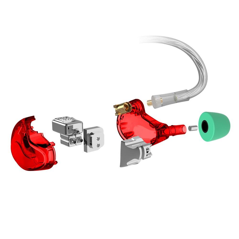 2018 NICEHCK DT500 5BA Drive In Ear Earphone 5 Balanced Armature Detachable Detach MMCX Cable Fever HIFI Monitor Sports Earphone in Phone Earphones Headphones from Consumer Electronics