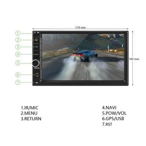 Image 2 - Podofo אנדרואיד רכב נגן מולטימדיה 2 דין 7 מגע מסך רכב רדיו אודיו Bluetooth MP5 נגן GPS מראה קישור WIFI FM רדיו