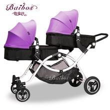 Baibos бай Twin пейзаж Детские коляски, двойной передний и задний может лежать сидеть