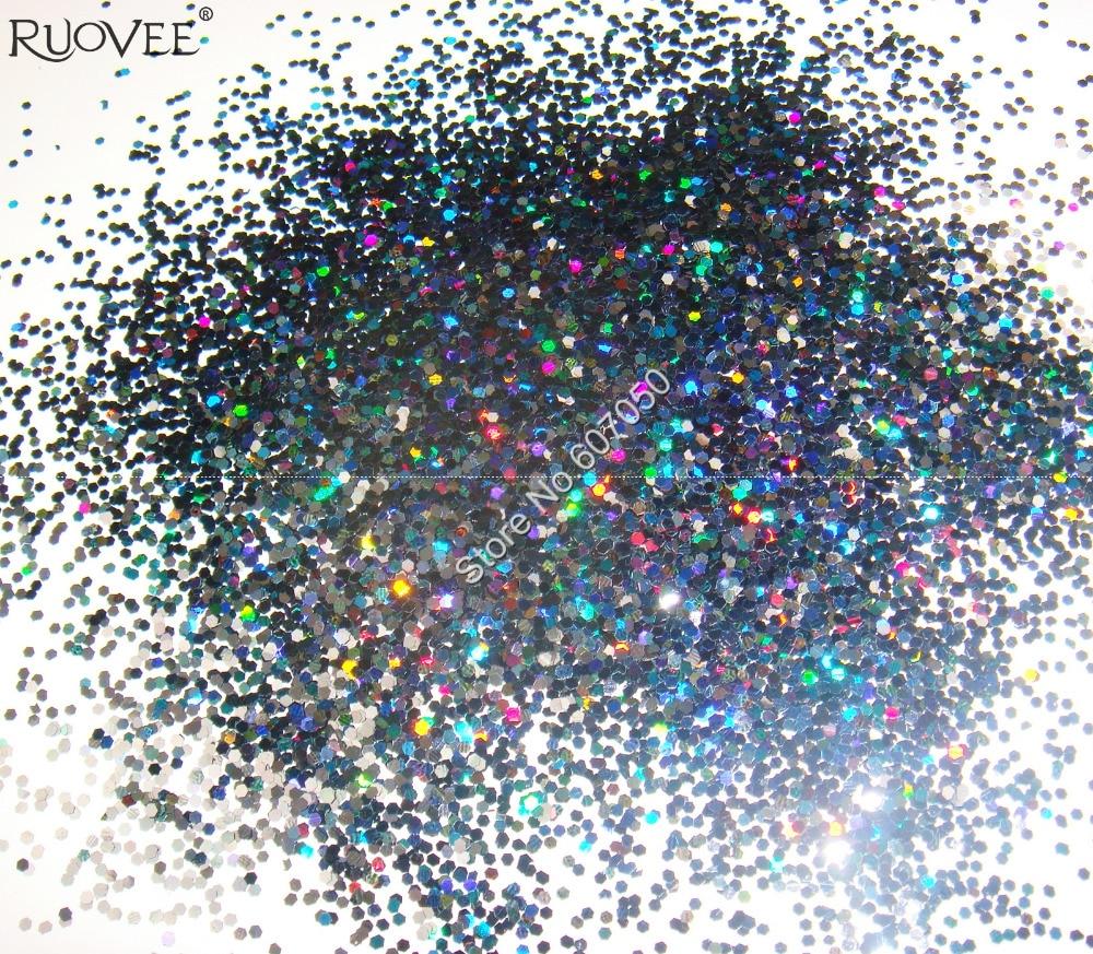 """50 г 1 мм(1/2"""") блестки для ногтей черная Ослепительная Шестигранная палитра блесток форма для украшения ногтей DIY"""