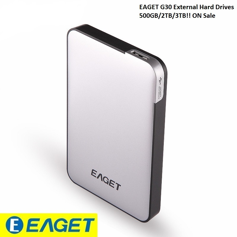 Eaget Authorized Store EAGET G30- 3TB 2TB 500GB USB 3.0 High Speed External Hard Drives Portable Desktop HDD Laptop Mobile Hard Disk Certified Hot Sell