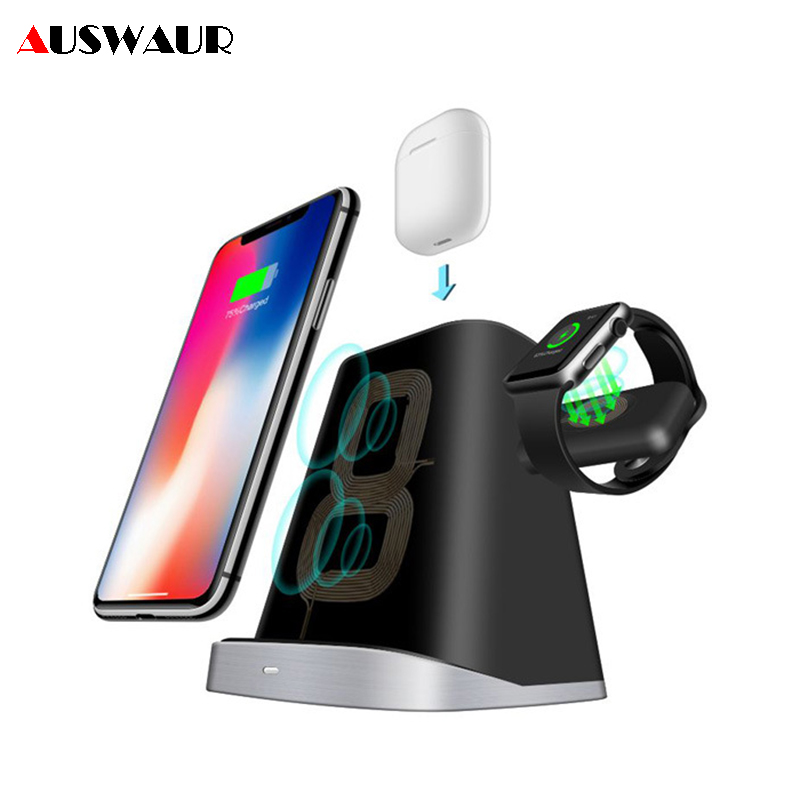 10W Wireless Charger Stand Dock for iPhone Apple Watch Airpods Fast Wireless Charger for iWatch 1 2 3 410W Wireless Charger Stand Dock for iPhone Apple Watch Airpods Fast Wireless Charger for iWatch 1 2 3 4