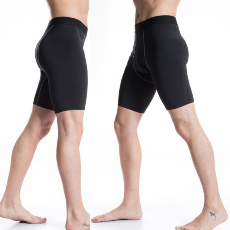 Quick Dry Men's Sport Compression Underlayer Training Spandex Shorts Cycle Briefs