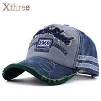 Xthree Hot Retro Baseball Cap Fitted Cap Snapback Hat For Men Gorras Casual Casquette Letter