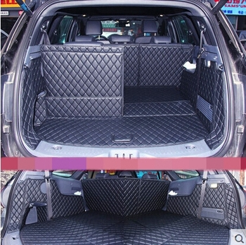 نوعية جيدة! خاص سيارة جذع ماتس فورد انديفور 7 مقاعد 2019-2016 للماء التمهيد السجاد البضائع بطانة ل انديفور 2018