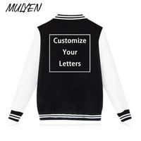 MULYEN Custom Made Design Baseball Clothing Hip Hop Sweatshirt Fleece DIY Hoodies Men Women Unisex Customize