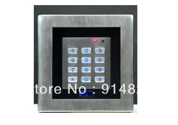 ФОТО Free Shipping +  125KHZ Stainless steel  backlight keypad single door stand alone access controller +1000users