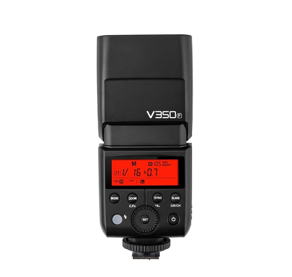 Godox V350F haute vitesse synchrone 1/8000 2.4G sans fil TTL batterie au lithium flash pour fujifilm GFX50S, XPro-2, X-T20, X-T2, X-T1