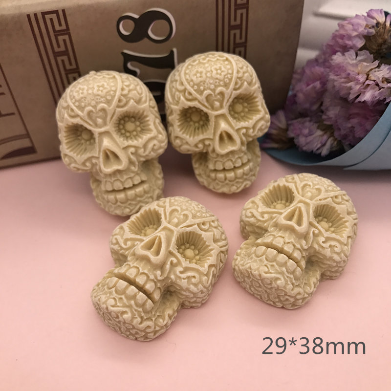 Free Shipping!5pcs Very Hot Skull, Resin Flatback Cabochon For Jewelry Accessory, Crafts Making.DIY (29*38mm)
