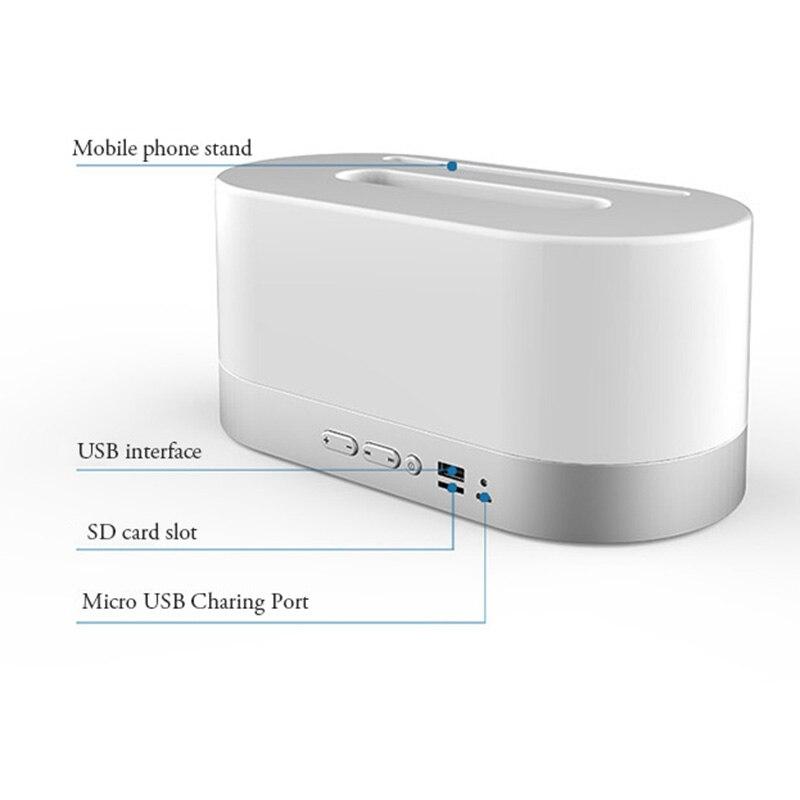 YE01 haut-parleur Bluetooth sans fil boîte à mouchoirs haut-parleur stéréo musique micro carte SD USB pour téléphone
