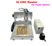 IC removal machine CNC router 3040 cnc milling machine for Iphone  + 10 in 1 mould, free tax to Russia