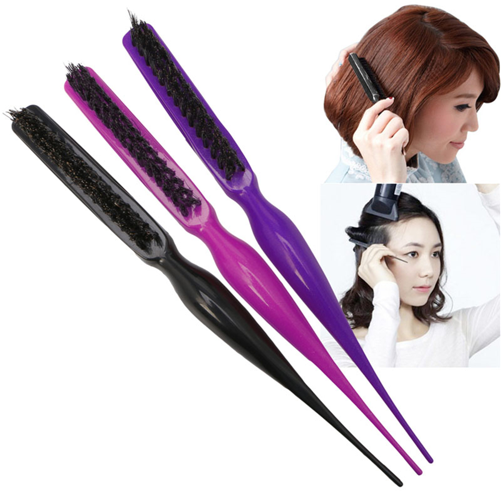 hair style brush salon black hair brushes comb slim line teasing combing 3494