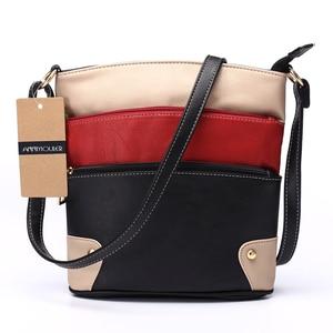 Image 3 - Annmouler Women Patchwork Shoulder Bag 4 Colors Crossbody Bag Tote Bag Three Zipper Messenger Bag High Quality Bolsos Mujer