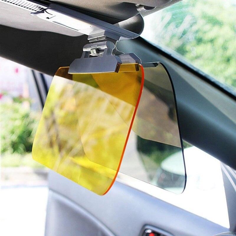 De alta calidad de día y noche de Anti-deslumbramiento visera de sol del coche HD deslumbrante gafas de conducción espejo UV doble hacia abajo HD para vista clara Visor