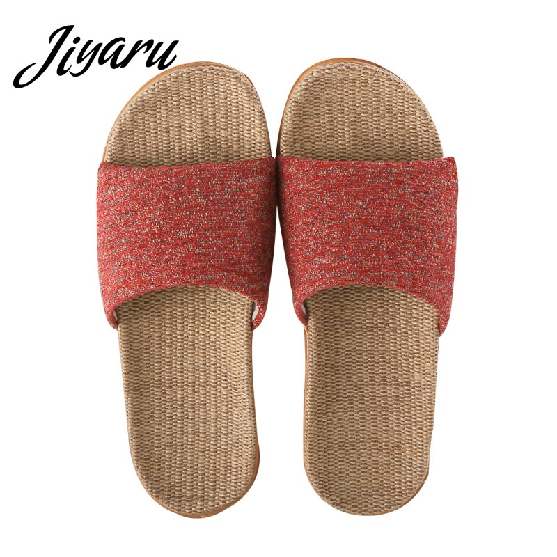 Slippers Women Linen Shoes Autumn Home Non-slip Slippers Female Outside Beach Slippers Ladies Girls Flat Shoes women slippers summer bling beach shoes sequined rivet fashion slippers female light flat platform non slip ladies shoes ald931