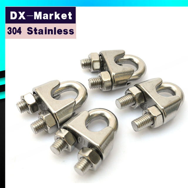 10mm , 10pcs/lot , High Quality 304 Stainless Steel Wire Rope Clamp ...