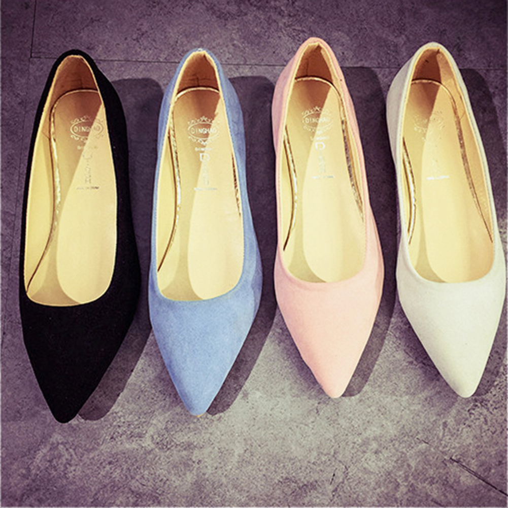 New Women Ballet Flats Shoes Pointed Toe Flats Sweet Loafers Slip On Pregnant Flat Shoes Single Boat Shoes Women Shoes sweet women s flat shoes with pointed toe and two piece design