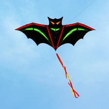 free shipping bat kite nylon ripstop outdoor toys big flying kite tails beach fun kite string parachute kites rainbow set easy цена 2017