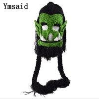 2017 Hot!!! Novelty Creepy Trendy Genuine Game Mask Men Women Halloween Party Costume Jolie Cosplay Hat Easter Beard Hat