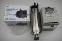 ER20 çapı 80mm 220 V 24000 rpm 2.2KW su soğutma mili + 1 adet 2.2KW invertör + 1 su pompa + 1 su borusu