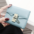 New European and American style Brand wallet fashion women wallet small lock design women purse small hasp coin purse