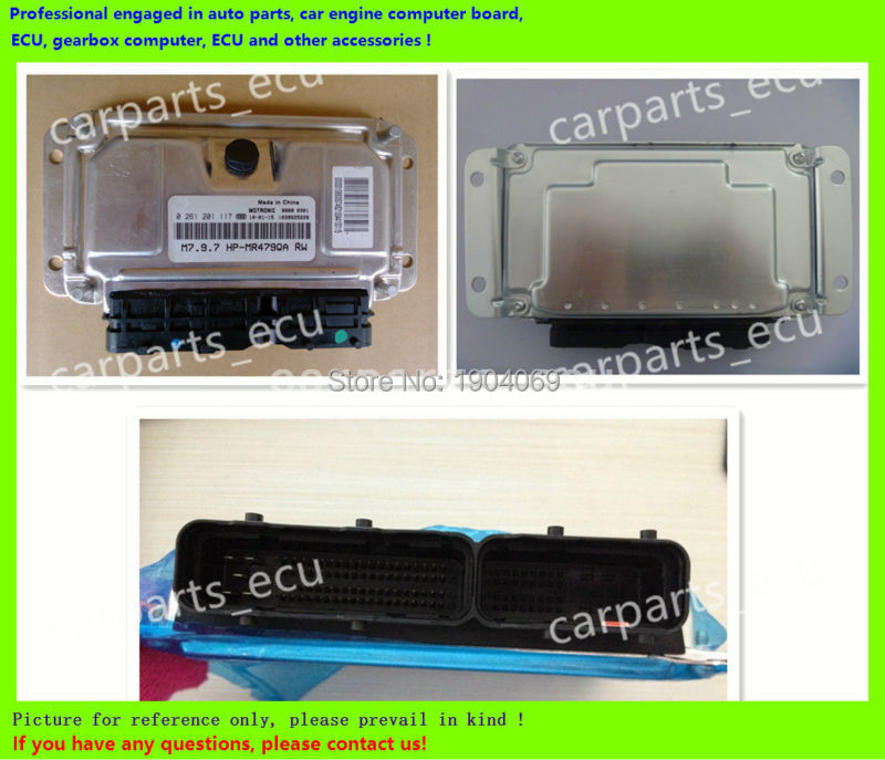 For Car Engine Computer Board/M7.9.7 ECU/Electronic Control Unit/Ford Fiesta/0261207874 3N21-12A650-DB 4APA