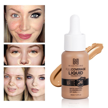 Hot Matte Sunscreen Oil Control Whitening Moisturizing Liquid Foundation Brighten Skin Color Waterproof Concealer TSLM1