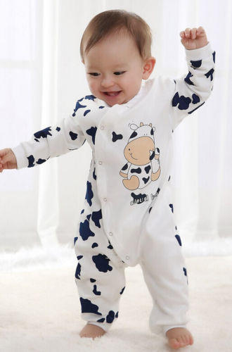 UK Newborn Baby Boy Girl Cute Clothes Long Sleeve Romper Bodysuit Overall Outfit