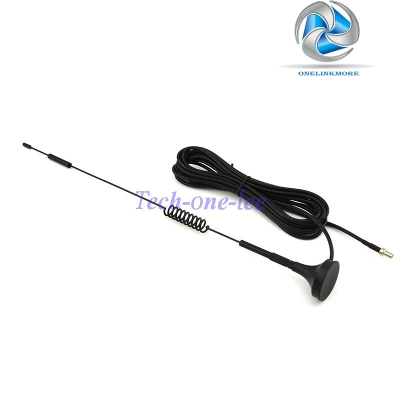 bilder für NEUE 4G 7-8 dbi LTE Antenne 4g Doppel Schraube Luft 698-960 Mhz mit magnetfuß TS9 Stecker RG174 3 Mt für E5372 E5375