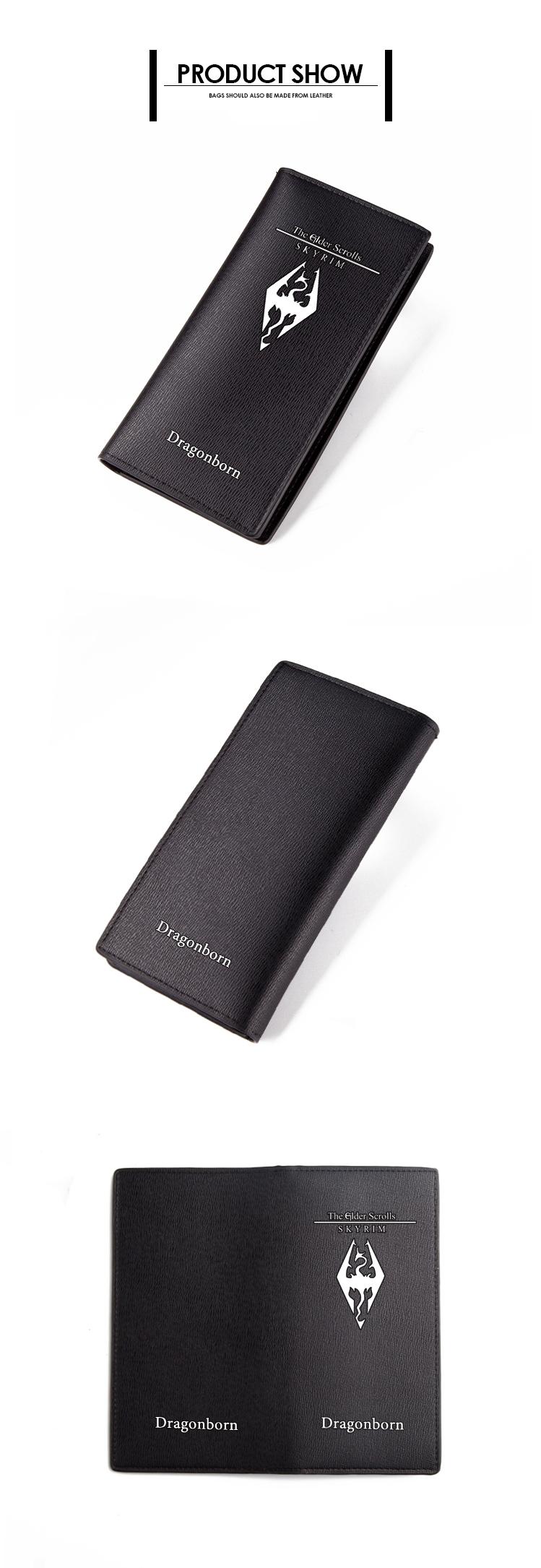 The Elder Scrolls Wallet Black PU Short Purse (2)