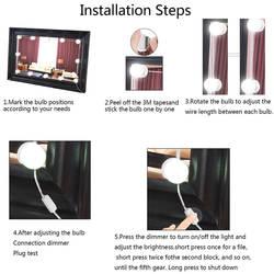 10 светодиодный зеркало лампа набор USB Powered макияж зеркала лампы для принадлежности для ванной комнаты Спальня дропшиппинг